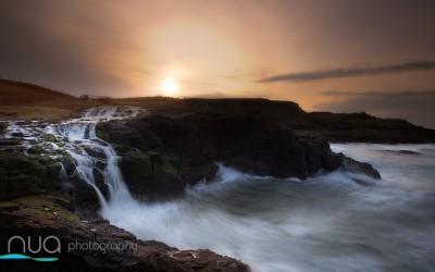 Antrim's stunning Dunseverick Waterfall, Coast Road, Dunseverick.